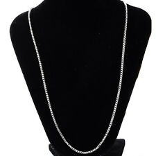 Stainless Steel Silver 2mm Box Chain Necklace 20inches