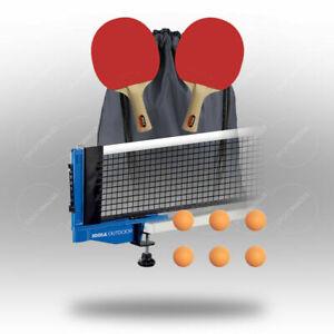 JOOLA Tischtennis-Set Kelle Netz orange Outdoor Satz ODER Ersatz-Bälle/Schläger