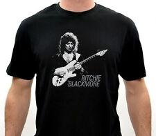 Ritchie Blackmore Men's Black T-Shirt Size:S-M-L-XL-2XL