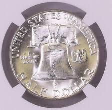 1955 Franklin 50c Half Dollar NGC MS 64 Silver FBL