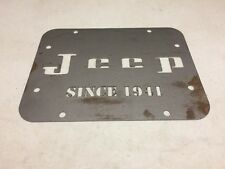 Wrangler JK Tailgate Spare Tire Delete Plate 2007 & Up! Since 1941 Jeep