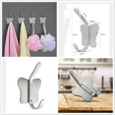 Bathroom Butterfly Style Wall Mounted Clothes Coat Towel Hook Hanger Tool AA