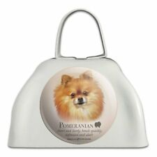 Pomeranian Dog Breed White Metal Cowbell Cow Bell Instrument