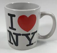 City Merchandise I ❤️ NY Souvenir White Coffee Mug Cup