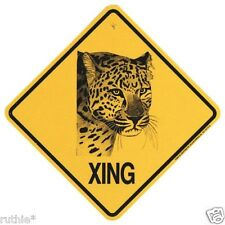 Leopard Crossing Xing Sign New