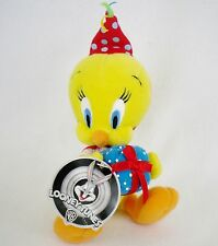 "Warner Bros. Looney Tunes Birthday Tweety Bird 8"" Bean Bag Plush w/ Tag"
