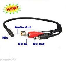 Hidden Spy Mini Microphone RCA Output Home CCTV Surveillance Security DVR System