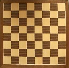 *NEW IN BOX* Walnut Inlaid Veneer Classic Wooden Wood Chess Board 46cm / 19 inch