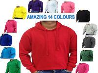 Plain Hoodie Hoody Sweatshirt Sweater Top Jumper Mens Womens Boys Girls