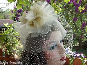Fascinator Headdress Elegant Wedding Special Occasion
