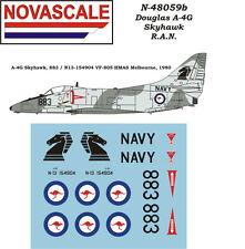 RAN A-4G Skyhawk Mini-Set Decals 1/48 Scale N48059b