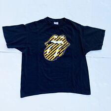 Black Rolling Stones No Security Concert Tour T-Shirt 1999 Black XL USA