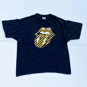 Vintage Black Rolling Stones No Security Concert Tour T-Shirt 1999 Black XL USA