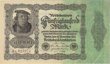 1922 50,000 MARK GERMANY REICHSBANKNOTE CURRENCY NOTE UNC GERMAN BANKNOTE BILL