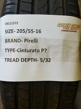1 Used Pirelli Cunturato RunFlat 205/55-16 205 55 16 205/55/16 205-55-16 2055516