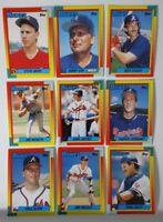 1990 Topps Traded Atlanta Braves Team Set of 9 Baseball Cards