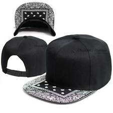 Baseball Cap Bandana Visor Hip Hop Hat Snapback Blank Solid Plain Flat Bill Men