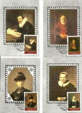 Russia Hermitage - Rembrandt Paintings, set of 6 MAXI CARDS 1983 y
