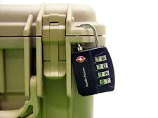 4 Black Big Shackle 4 dial combination TSA Luggage case lock fits Pelican ™ case