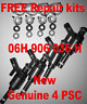 4 New/Original Fuel Injector SEAT TOLEDO TFSI SKODA OCTAVIA 1.8 TSI 06H906036H
