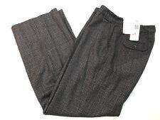 Rena Rowan Women Wool Silk Blend Pants Size 8 Petite New Lined Tweed Brown