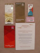 London 2012 Paralympics Opening Ceremony Ticket, Exclusive Pin Badge & More