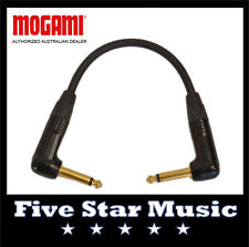 MOGAMI GOLD CABLE 10 INCH RIGHT ANGLE GUITAR PEDAL PATCH LEAD w NEUTRIK - NEW