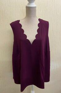 Very Curve - Scallop Edge Cami Vest Purple Size 28 BNWT