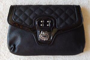 NEW Grace Adele TATE Black Clutch Purse Bag 22 inch detachable strap HTF