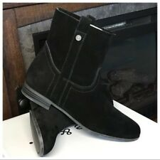 Frye & Co Womens Black SARAH Suede Pull On Soft Ankle Boots Size 8.5 M NWOB