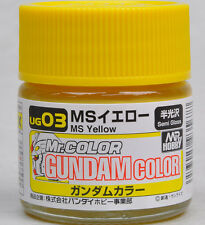 GSI CREOS GUNZE MR HOBBY GUNDAM COLOR UG03 MS Yellow LACQUER PAINT 10ml NEW