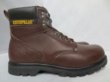 Men's Brown Caterpillar Steel Toe Leather Work Boot Size 13 Medium #89136
