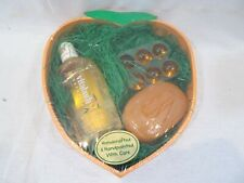 Vitabath Naturals Vintage Fresh Peach Nectar Collection Gift Set Gel Soap Drops
