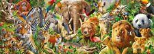 New African Wildlife 1000 Piece Wild Animal Panorama Jigsaw Puzzle by Jumbo