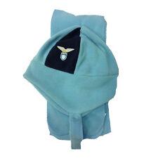 LAZIO set sciarpa+cappello azzurro con paraorecchie in morbido pile da bimbo