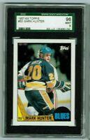 Mark Hunter  1987-88 Topps Hockey SGC MINT 96/9 & Bonus Cards always added