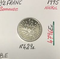 1/2 FRANC SEMEUSE - 1995 - Pièce de Monnaie en Nickel // BE