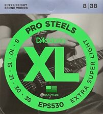 D'Addario Eps530 ProSteels Electric Guitar Strings, Extra-Super Light, 8-38