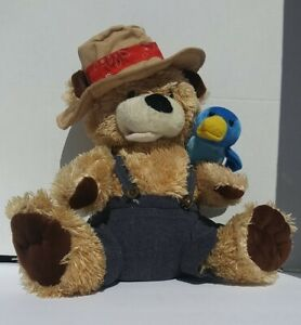 Chantilly Lane Pete & Tweet Duet Zip-A-Dee-Doo-Dah singing plush bear & bird 12""