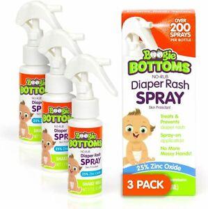 Baby Diaper Rash Cream Spray by Boogie Bottoms, No-Rub Touch Free Application fo