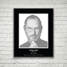 Original Steve Jobs Poster in his own words. Image made of Steve Jobs quotes!