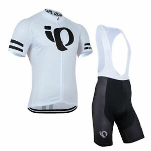 Cycling Jersey Bib Short Biking MTB Men White Pearl Izumi Shirt Maillot Trikot