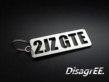 """Keyfob Keychain """"2JZ GT"""" Toyota Supra Twin Turbo JZA80 - stainless steel shiny"""