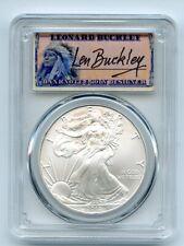 2010 $1 American Silver Eagle Dollar PCGS MS70 Leonard Buckley