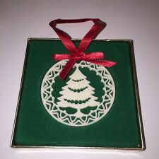 Lenox Christmas Ornament Yuletide Tree 1985 Mib Pierced Porcelain 2.25""