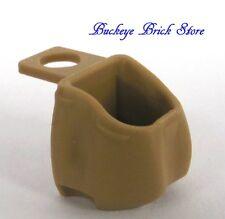 New LEGO Minifig TAN BACKPACK - Knapsack Sack Basket pack bag
