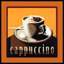 Herbert agarra cappuccino póster imagen son impresiones artísticas en el marco de aluminio en negro 60x60cm