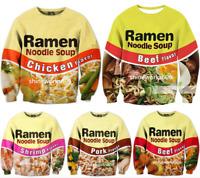 New Women/Men Funny Ramen Food 3D Print Casual Hoodies Sweatshirt Pullovers Tops