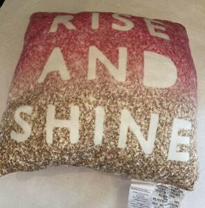 """RISE AND SHINE GRIND MOTIVATION PILLOW PLUSH JAY FRANCO 14""""x14"""""""