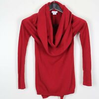 SHRINKING VIOLET XS Women's Sweater Long Sleeve Cowl Neck Red